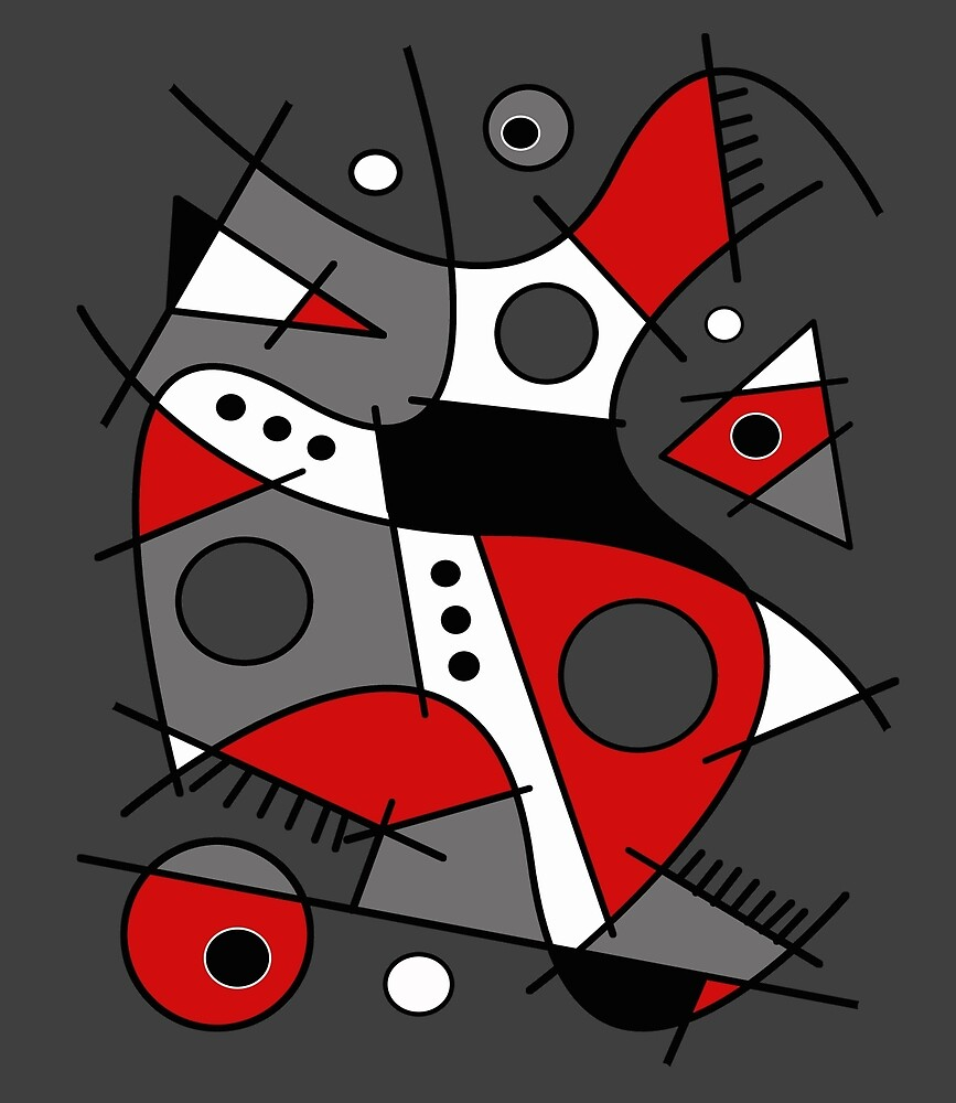 Abstract #233 Harlequin by Rockett Graphics