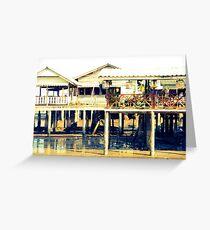 wooden buildings  Greeting Card