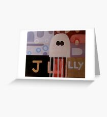 In Walked a Jelly Fish Greeting Card