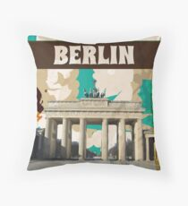 Berlin Vintage Travel Poster Throw Pillow
