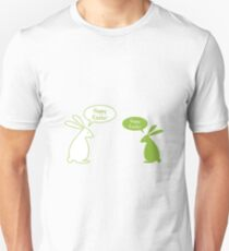 Happy Easter card with bunnies T-Shirt