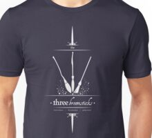 The Three Broomsticks in White Unisex T-Shirt