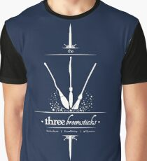 The Three Broomsticks in White Graphic T-Shirt
