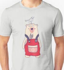 Dungaree Winter Bear Unisex T-Shirt