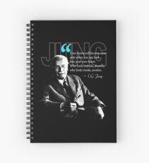 A Quote from Carl Gustav Jung Quote Dreams Spiral Notebook