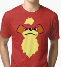 Flat growlithe Tri-blend T-Shirt