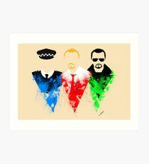 Three Flavours Cornetto Art Print