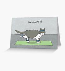 Yoga Cat by Caleb Croy Greeting Card