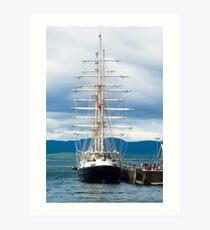 Ship, Sailing vessel, SV Tenacious, Docked, North pier, Oban  Art Print