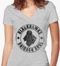 Chicago Soul (Distressed) Women's Fitted V-Neck T-Shirt
