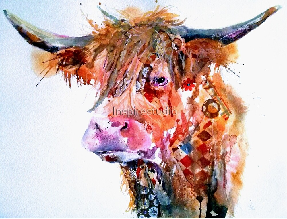 Highland Cow by Art bySarah White