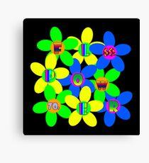 Flower Power 60s-70s Canvas Print