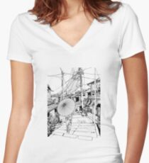Kyoto - the old city Women's Fitted V-Neck T-Shirt