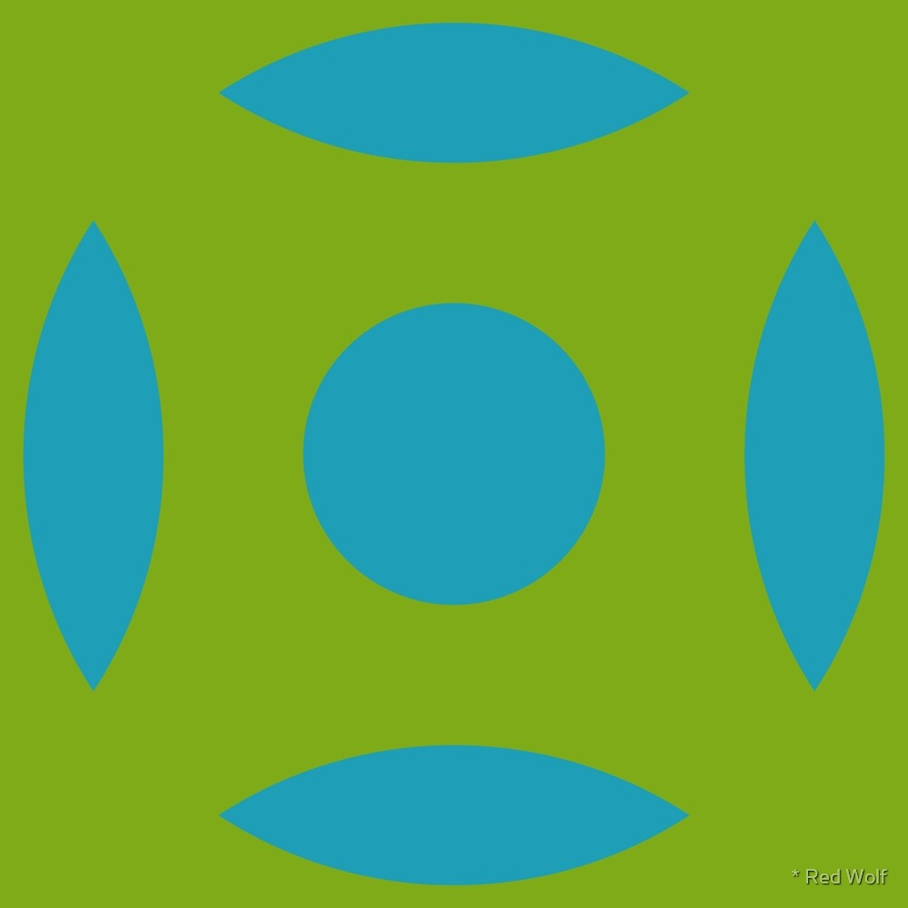 Geometric Pattern: Intersect Circle: Algal Bloom by * Red Wolf