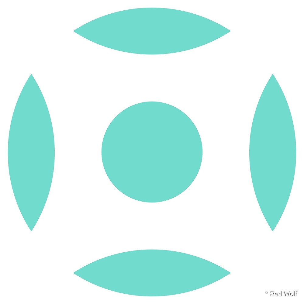 Geometric Pattern: Intersect Circle: Poolside by * Red Wolf