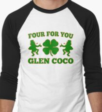 Glen Coco Lucky Clover St Patricks Day T-Shirt Men's Baseball ¾ T-Shirt