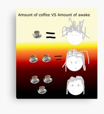 Amount of coffee vs amount of awake Canvas Print