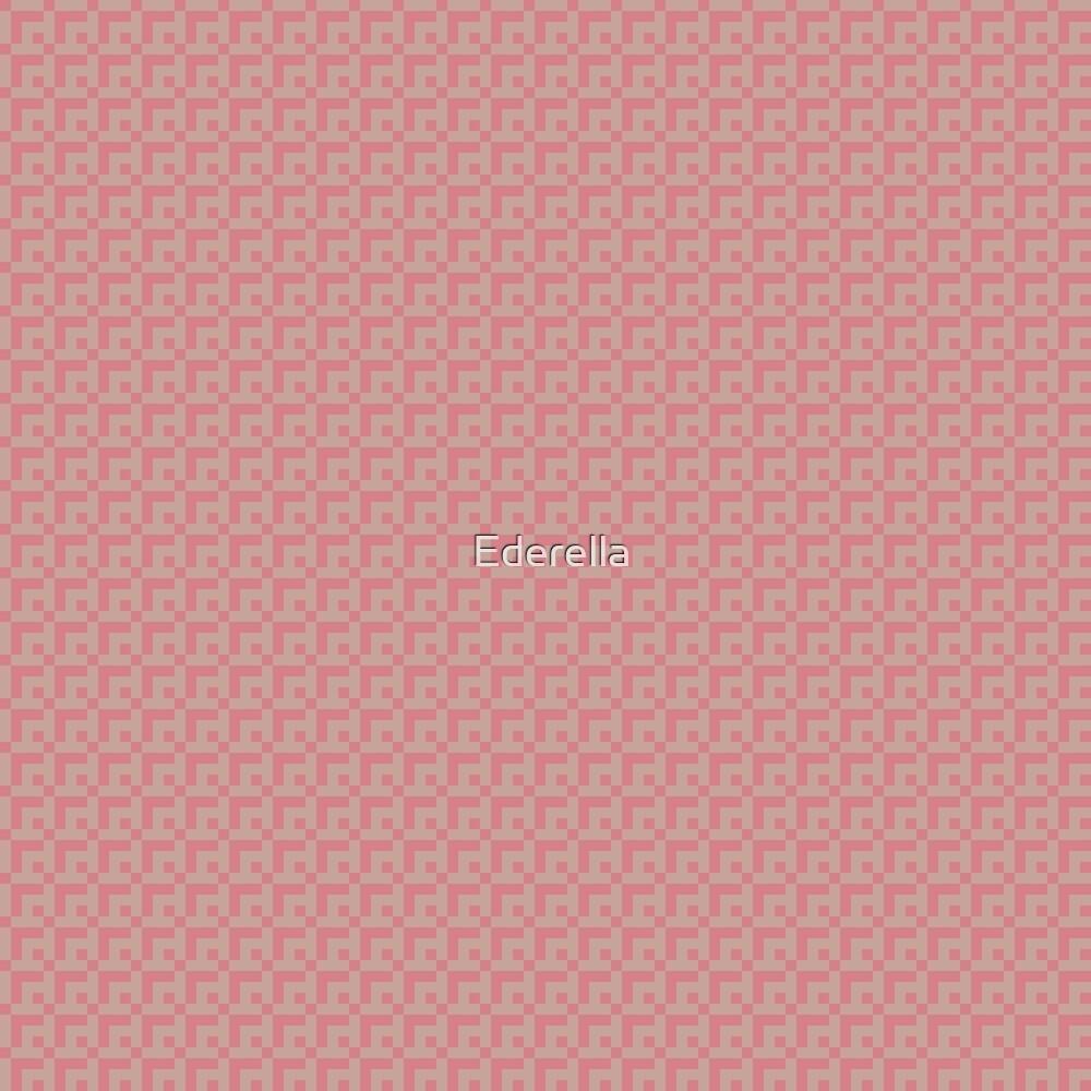 Geometric pink pixel pattern by Ederella