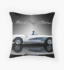 1959 Corvette 'Fuel Injection' Throw Pillow