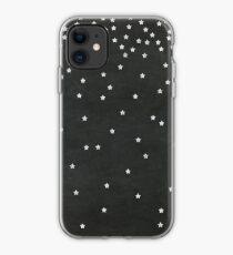 Chalkboard Falling Stars iPhone Case