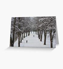 Shrewsbury in the snow Greeting Card
