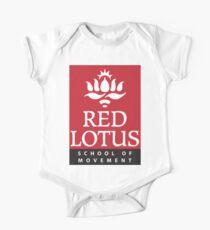 Red Lotus School (Full logo) One Piece - Short Sleeve