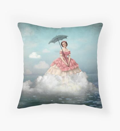 Swimming Cloud Throw Pillow