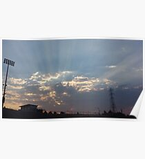 Glowing sky Poster