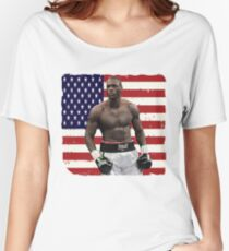 Deontay Wilder American Boxing Heavyweight  Women's Relaxed Fit T-Shirt