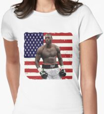 Deontay Wilder American Boxing Heavyweight  Women's Fitted T-Shirt