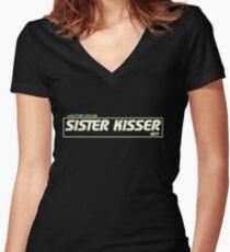 Sister Kisser Women's Fitted V-Neck T-Shirt
