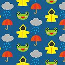 rainy days (Children's pattern) by parisiansamurai