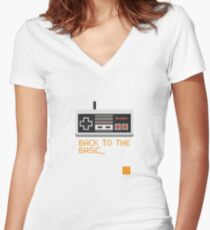 back to the basic_ Women's Fitted V-Neck T-Shirt