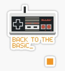 back to the basic_ Sticker