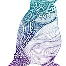 Duotone Penguin by Pom Graphic Design