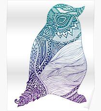 Duotone Penguin Poster