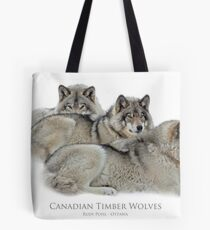Canadian Timber Wolves Tote Bag