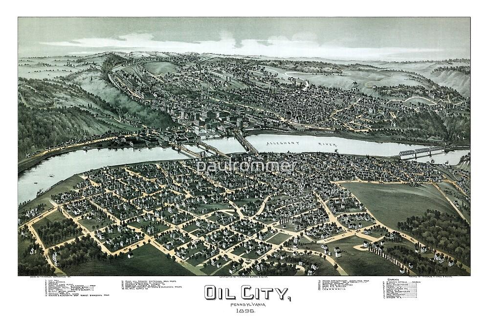 Oil City - Pennsylvania - 1896 by paulrommer