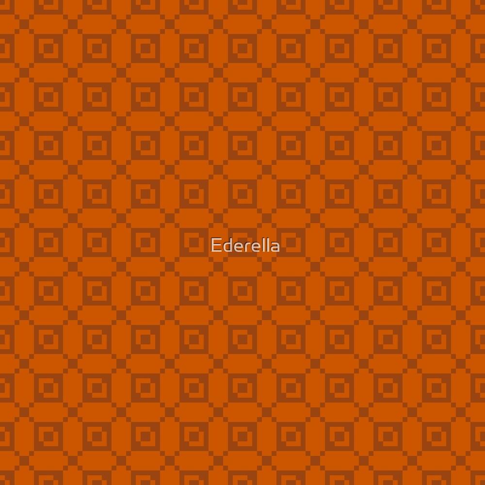 Geometric brown pixel pattern by Ederella
