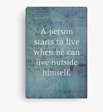Einstein Quote 2 Metal Print