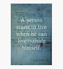 Einstein Quote 2 Photographic Print