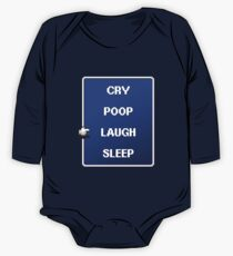 Baby Battle Menu One Piece - Long Sleeve