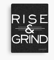 """Rise & Grind"" Motivational Print Canvas Print"