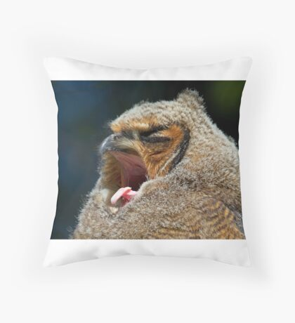 Great Horned Owlet Throw Pillow