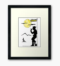 Cowboy Saloon Framed Print