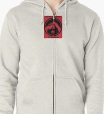 It's not about style. (Red background, small) Zipped Hoodie