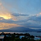 Fiery sky over Hobart - Tasmania, Australia by PC1134
