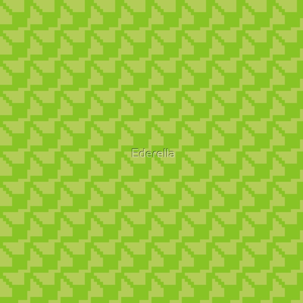 Geometric green pixel pattern by Ederella