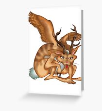 Wolpertinger (brown) Greeting Card