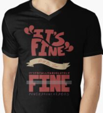 Caitlin - It's Fine Mens V-Neck T-Shirt